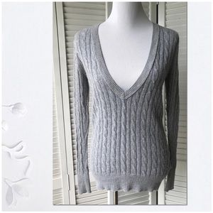 EUC Vintage Gap Grey rabbit hair sweater Sz S